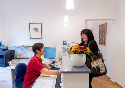 Anmeldung Patient, Praxis Dr. Karin Aulmann, Schalksmühle
